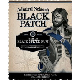 Admiral Nelson Black Patch Label