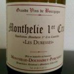 DOUHAIRET PORCHERET, MONTHELIE 1er CRU LES DURESSES BLANC Label